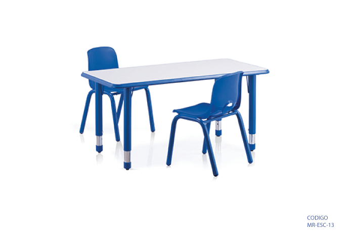 Mesa infantil rectangular ajustable